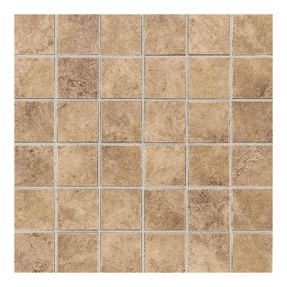 Carano Golden Sand 12 in. x 12 in. Ceramic Mosaic Tile