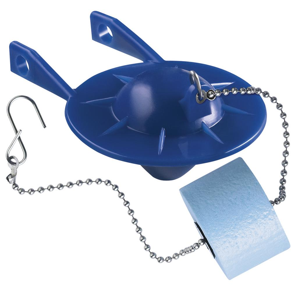 KOHLER 2 in. Blue Toilet Flapper with Float Used in Various 2-Piece Toilets