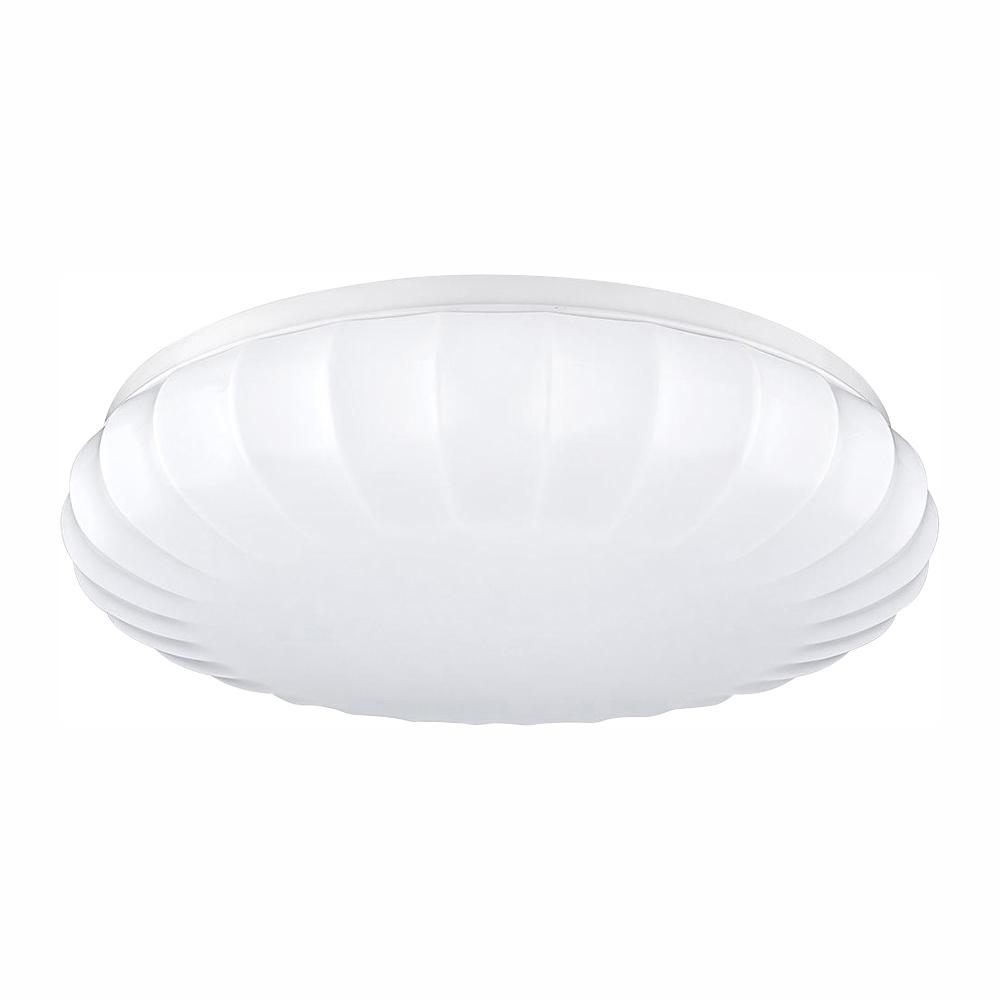 ETi Carousel Style 11 in. Round White 60 Watt Equivalent Integrated LED Flush Mount with Color Temperature Changing Feature