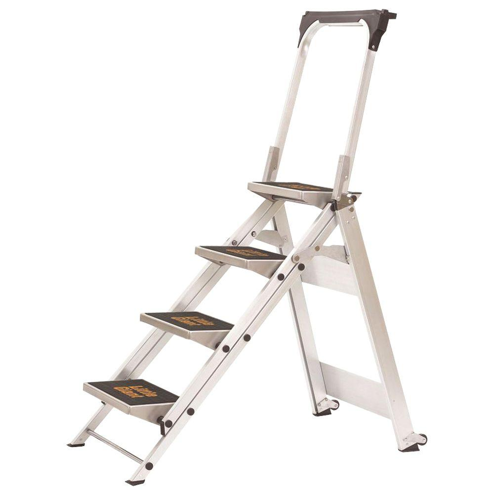 4 Step Little Giant Safety Step Ladder Jumbo Safety