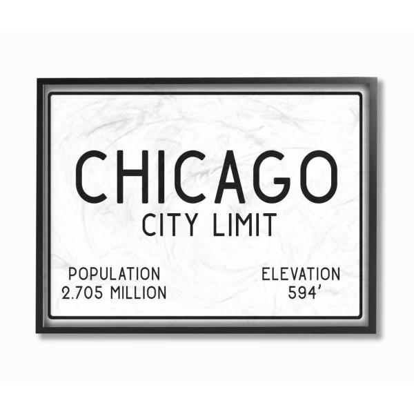 The Stupell Home Decor Collection 11 in. x 14 in. ''Chicago