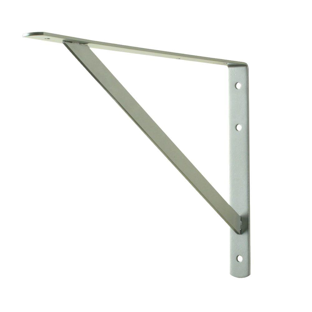 Everbilt 16 in. x 10 in. Satin Nickel Heavy Duty Shelf Bracket