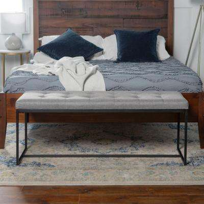 Metal - Gray - Bedroom Benches - Bedroom Furniture - The Home Depot