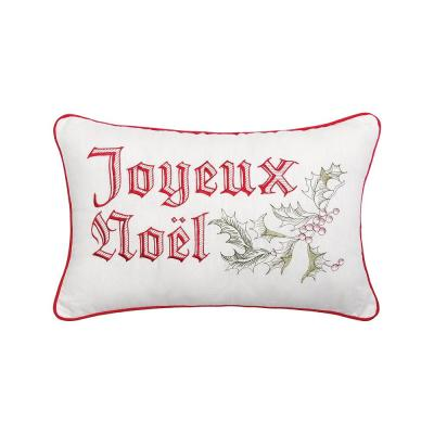 Wenham Holly Noel Red Pillow 14 in. x 22 in.