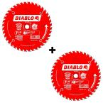 2 Pk Diablo 7-1/4 in. x 40-Tooth Finish Saw Blade