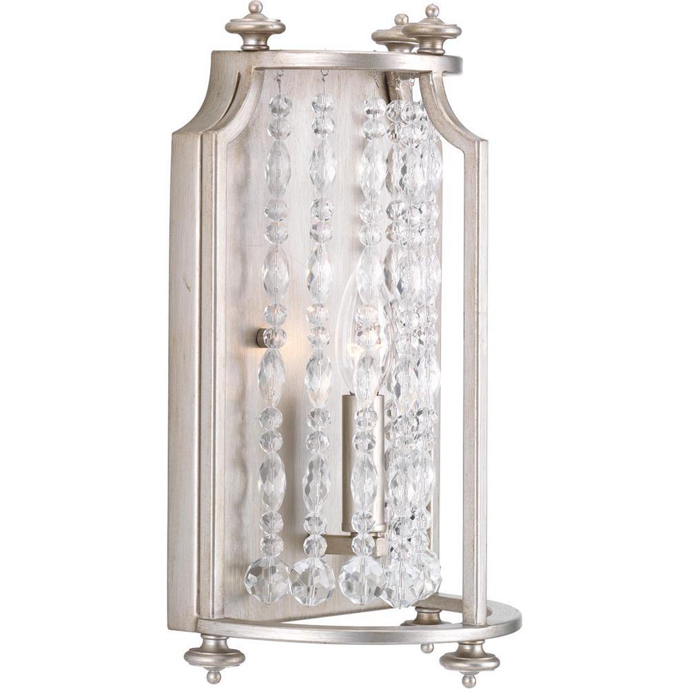 Desiree Collection 1-Light Silver Ridge Sconce