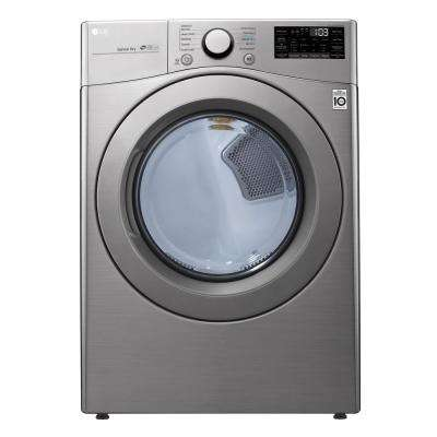 7.4 cu. ft. Graphite Steel Electric Dryer with Round Door and Wi-Fi Enabled