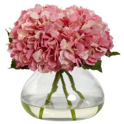 Large Blooming Hydrangea with Vase