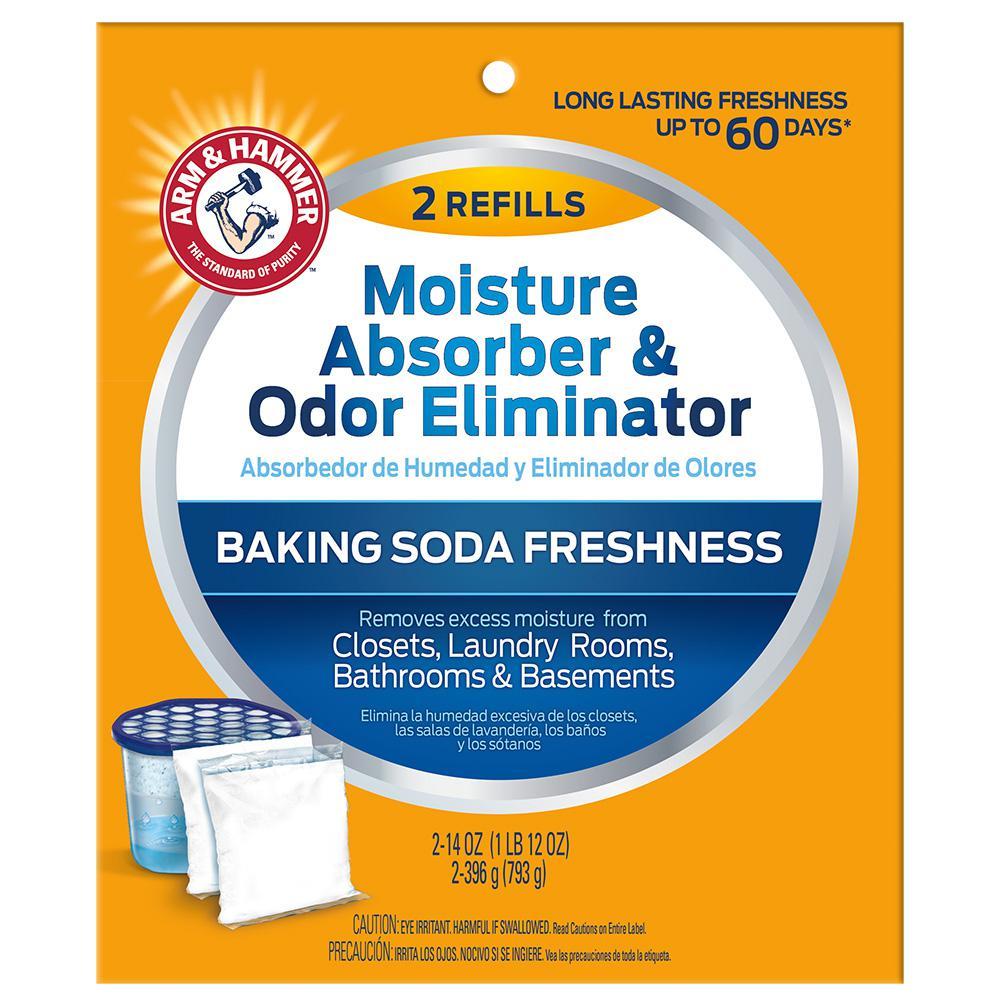 Arm & Hammer 14 oz  Moisture Absorber and Odor Eliminator Refill (2-Pack)