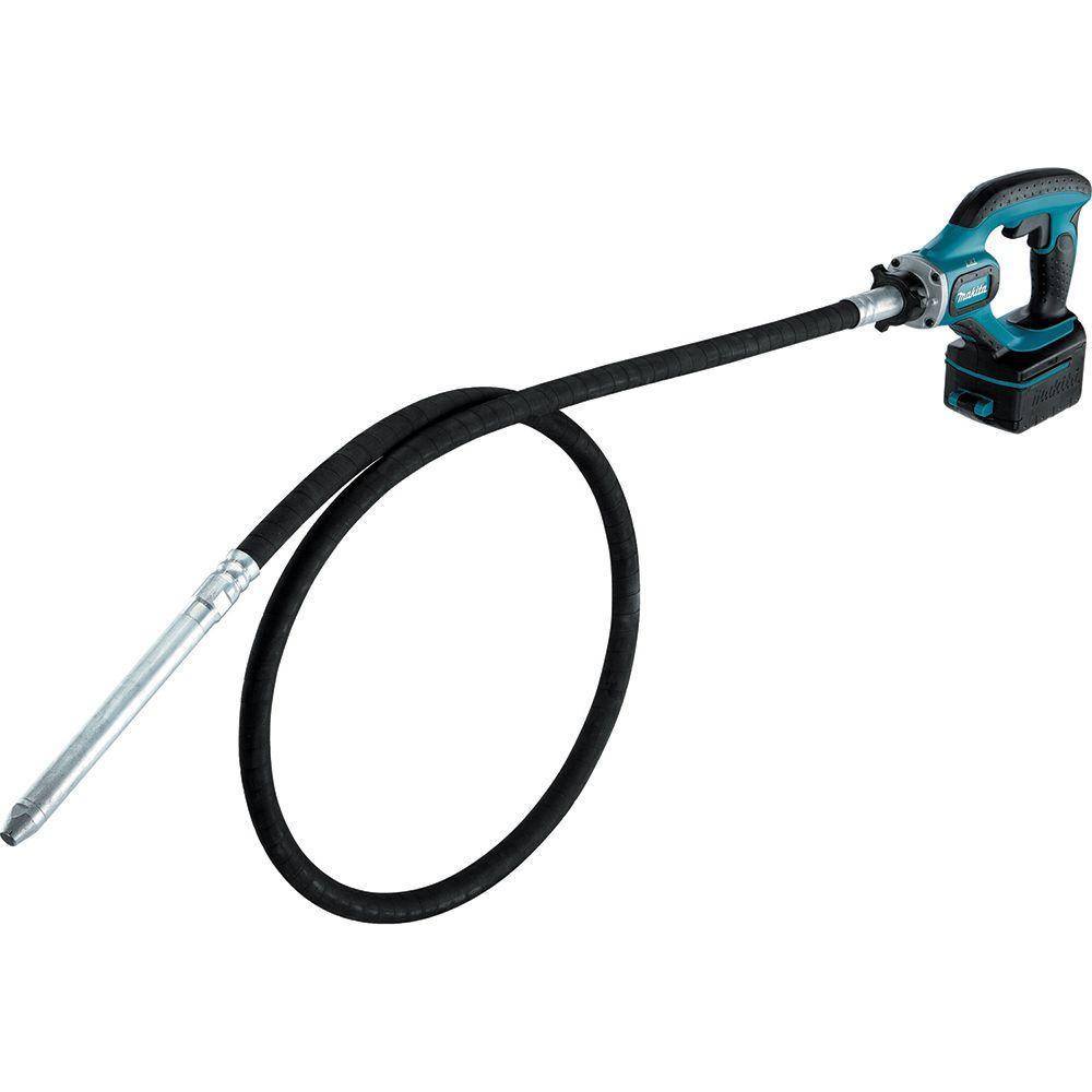 Makita 18-Volt LXT Lithium-Ion 8 ft. Cordless Concrete Vi...