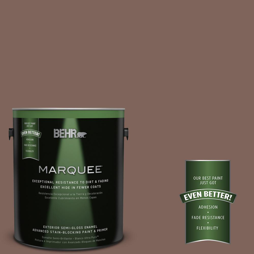 1-gal. #BNC-23 Almond Truffle Semi-Gloss Enamel Exterior Paint