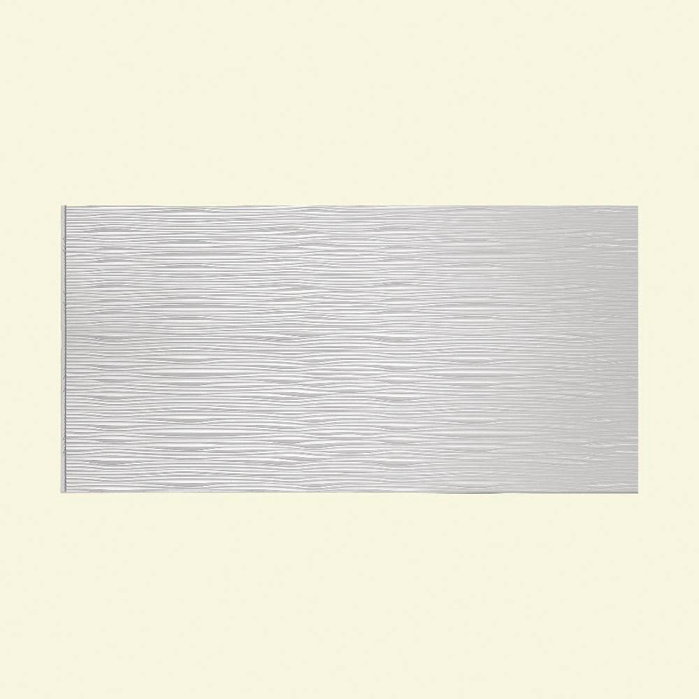 Fasade Waves Horizontal 96 In. X 48 In. Decorative Wall