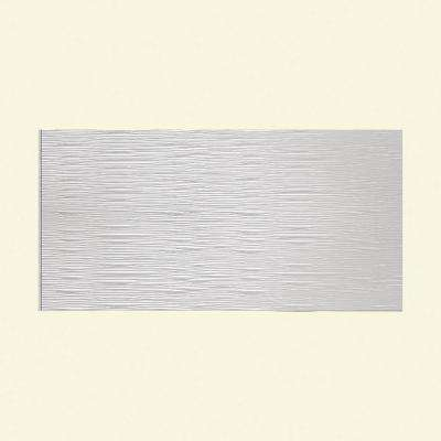 Waves Horizontal 96 in. x 48 in. Decorative Wall Panel in Gloss White