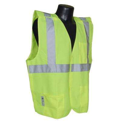 Cl 2 Solid Green 5x Breakaway Safety Vest