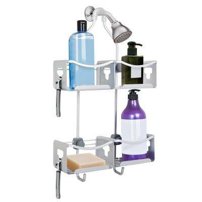 Utopia Alley Expandable Rustproof Shower Caddy, Satin Chrome Finish