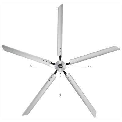 Titan 14 ft. 460-Volt Indoor Anodized Aluminum 3 Phase Commercial Ceiling Fan