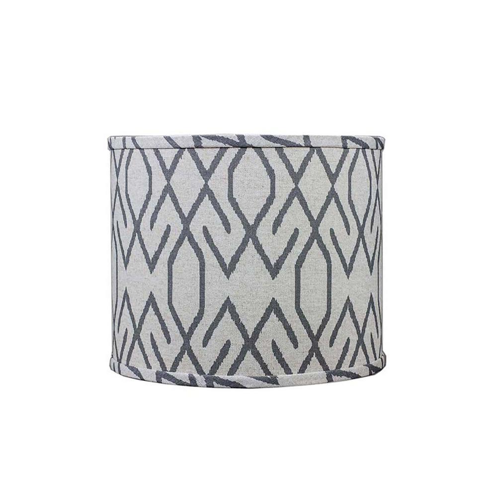 12 in. x 11 in. Dark Gray Lamp Shade