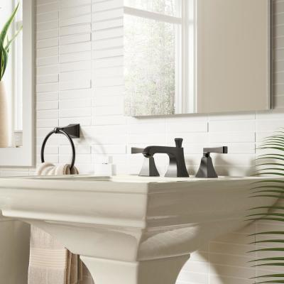 Memoirs 8 in. Widespread 2-Handle Water-Saving Bathroom Faucet with Deco Lever Handle in Oil-Rubbed Bronze