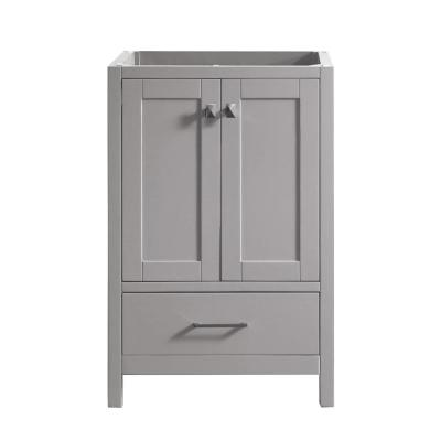Caroline Madison 24 in. W x 22 in. D Bath Vanity Cabinet Only in Cashmere Grey