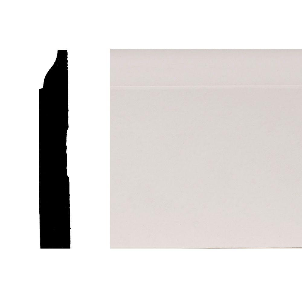 Builder's Choice LWM623 9/16 in. x 3-1/4 in. Primed Finger-Jointed Pine Base Moulding