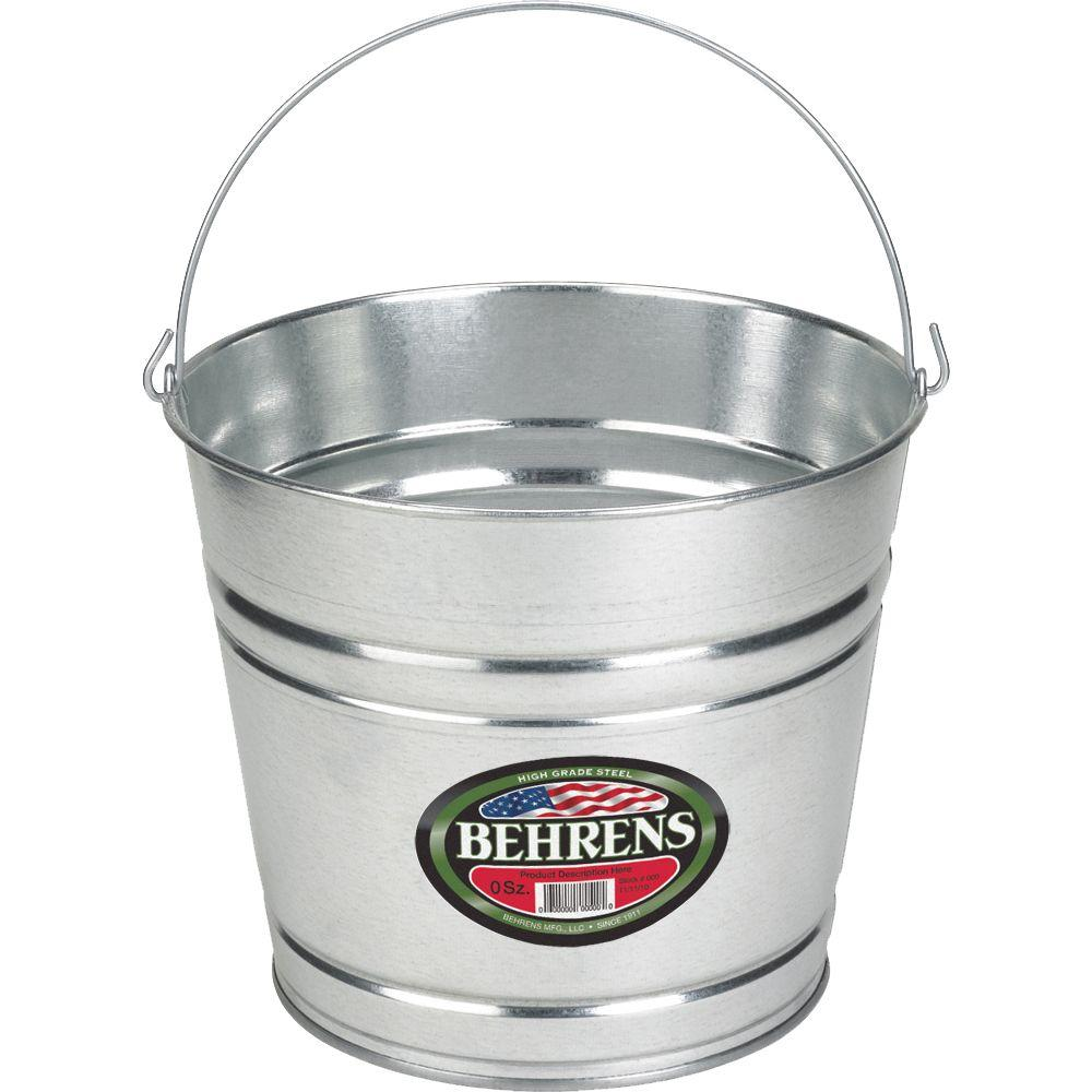 Behrens 10 Qt Galvanized Steel Pail 1210gsx The Home Depot