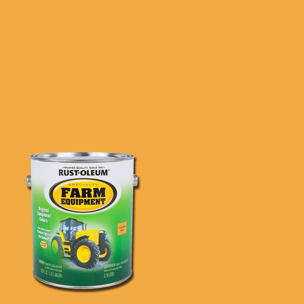 1 gal. Farm Equipment Caterpillar Yellow Gloss Enamel Paint (2-Pack)