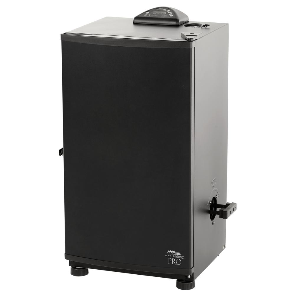Masterbuilt Pro 30 in. Black Electric Digital Smoker Smoking food has never been easier than with the Masterbuilt Pro 30 in. Digital Electric Smoker. If you are experienced or a novice, you'll love the results you get from this smoker. No need to hassle with charcoal or propane - just plug this smoker in, set the digital controls and it does the work. Masterbuilt makes smoking simple.