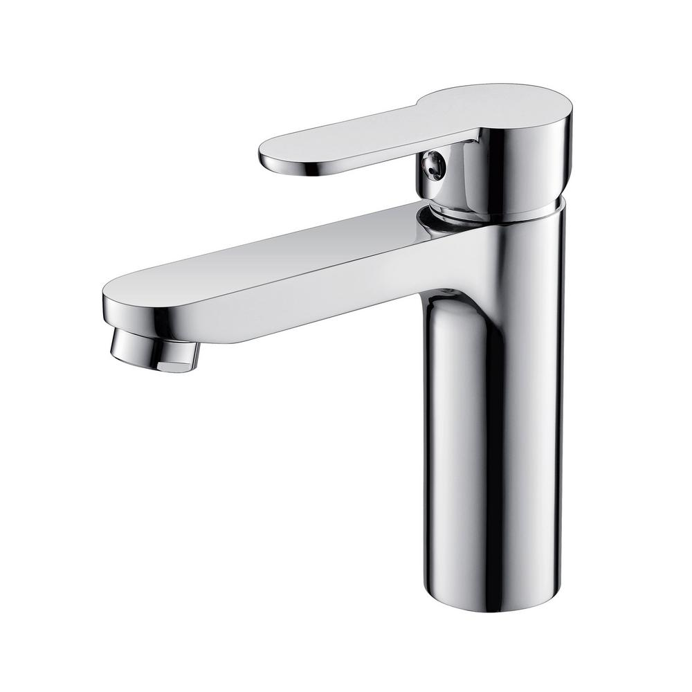 Vanity Art 6.3 in. Single Hole Single-Handle Lever Vessel Bathroom Faucet in Chrome, Grey was $107.0 now $74.9 (30.0% off)