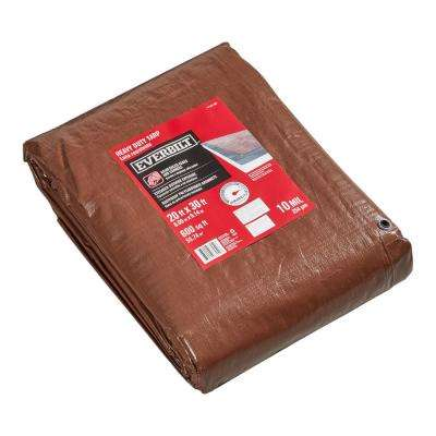 20 ft. x 30 ft. Silver/Brown Heavy-Duty Tarp