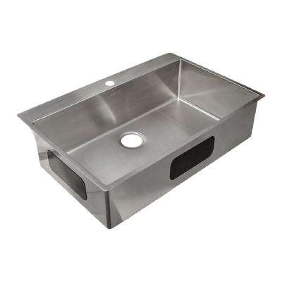 Incredible Vector 9 In Deep Dual Mount Stainless Steel 33 5 In 1 Hole Single Bowl Kitchen Sink In Satin Stainless Steel Beutiful Home Inspiration Aditmahrainfo