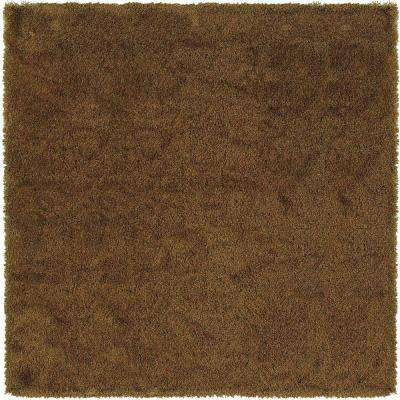 Urban Loft Rust Gold 8 ft. x 8 ft. Square Area Rug