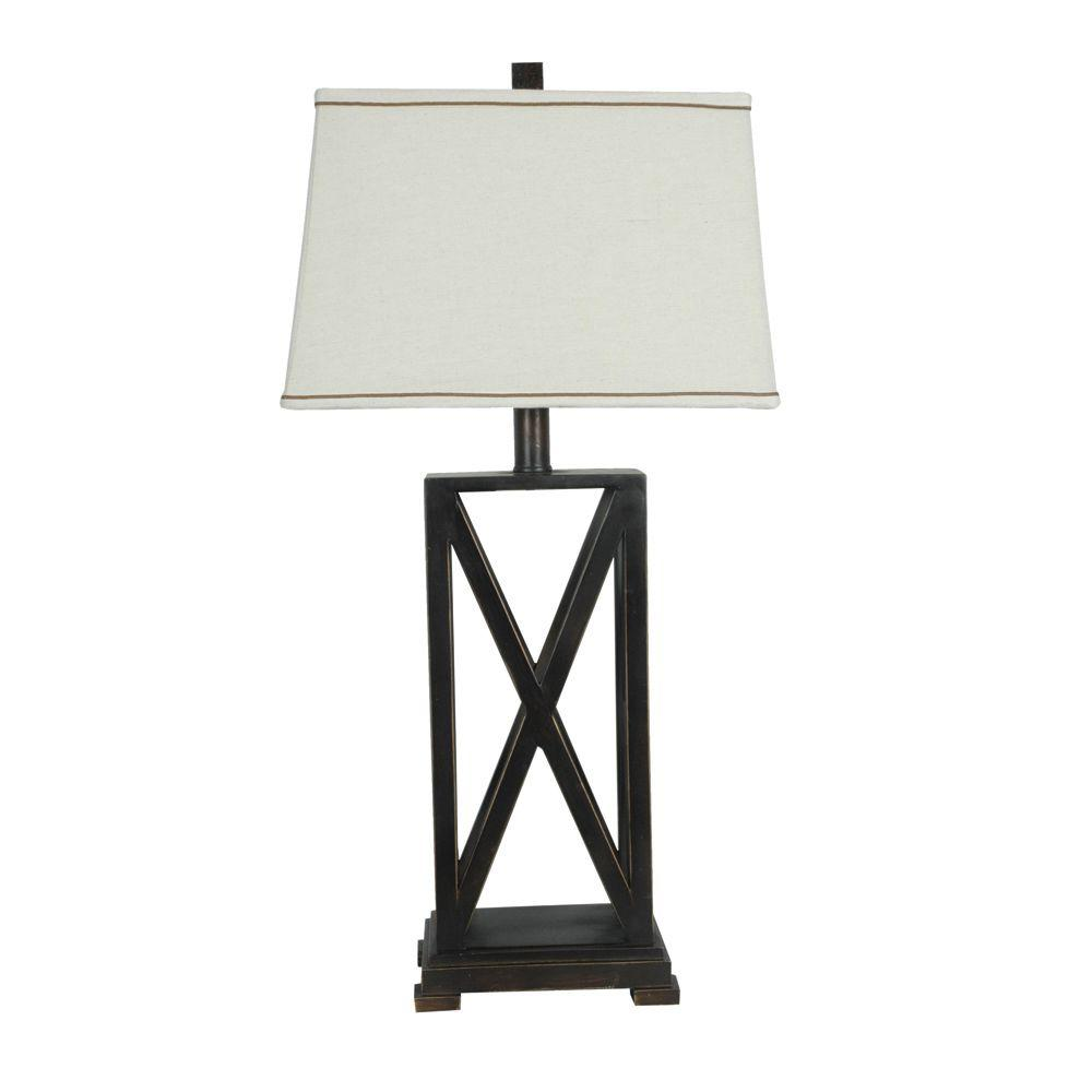 Absolute decor 325 in rich bronze metal criss cross table lamp rich bronze metal criss cross table lamp aloadofball Image collections
