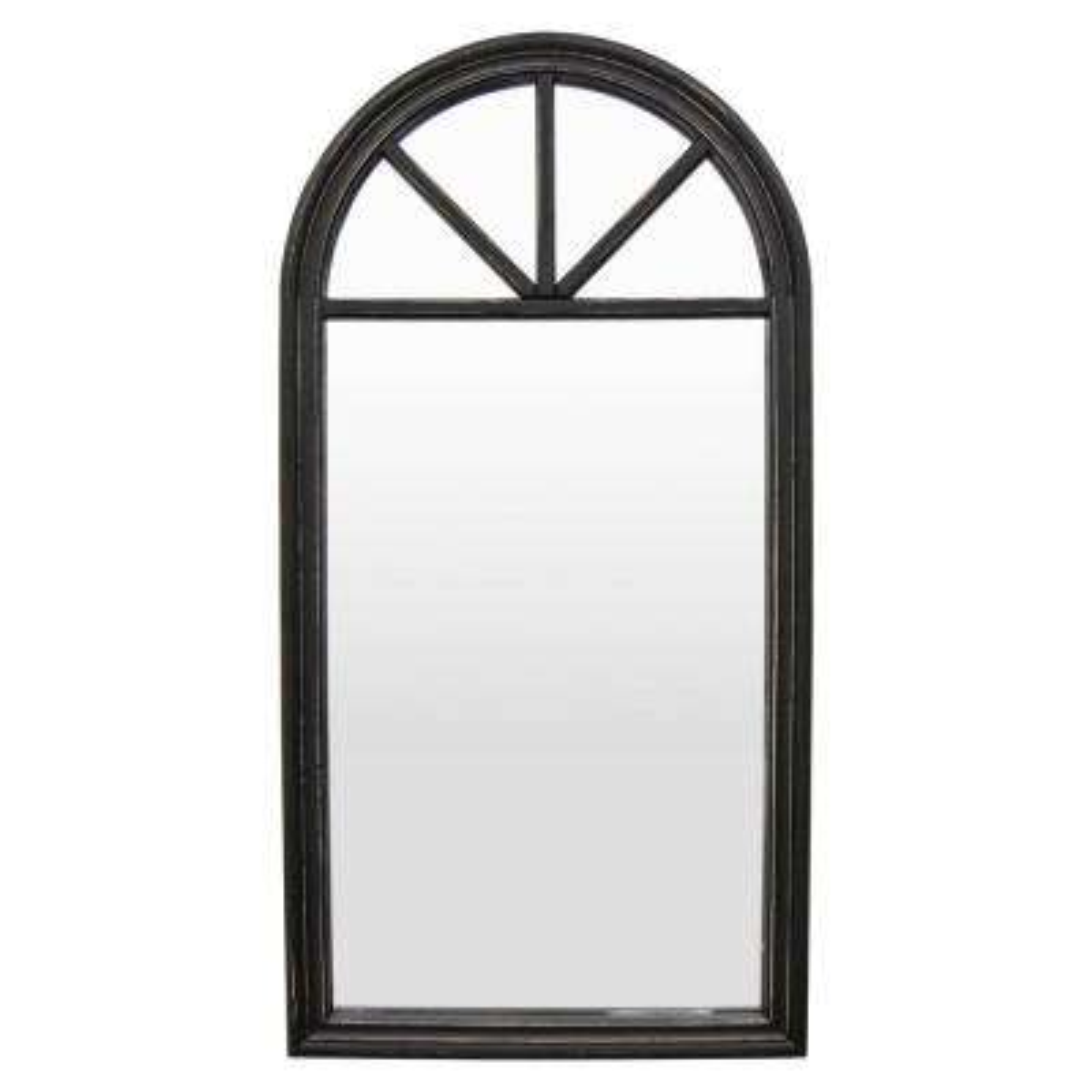"46 ""Black Wood Wall Mirror"