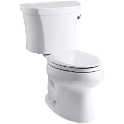 Wellworth 14 in. Rough-In 2-piece 1.28 GPF Single Flush Elongated Toilet in White