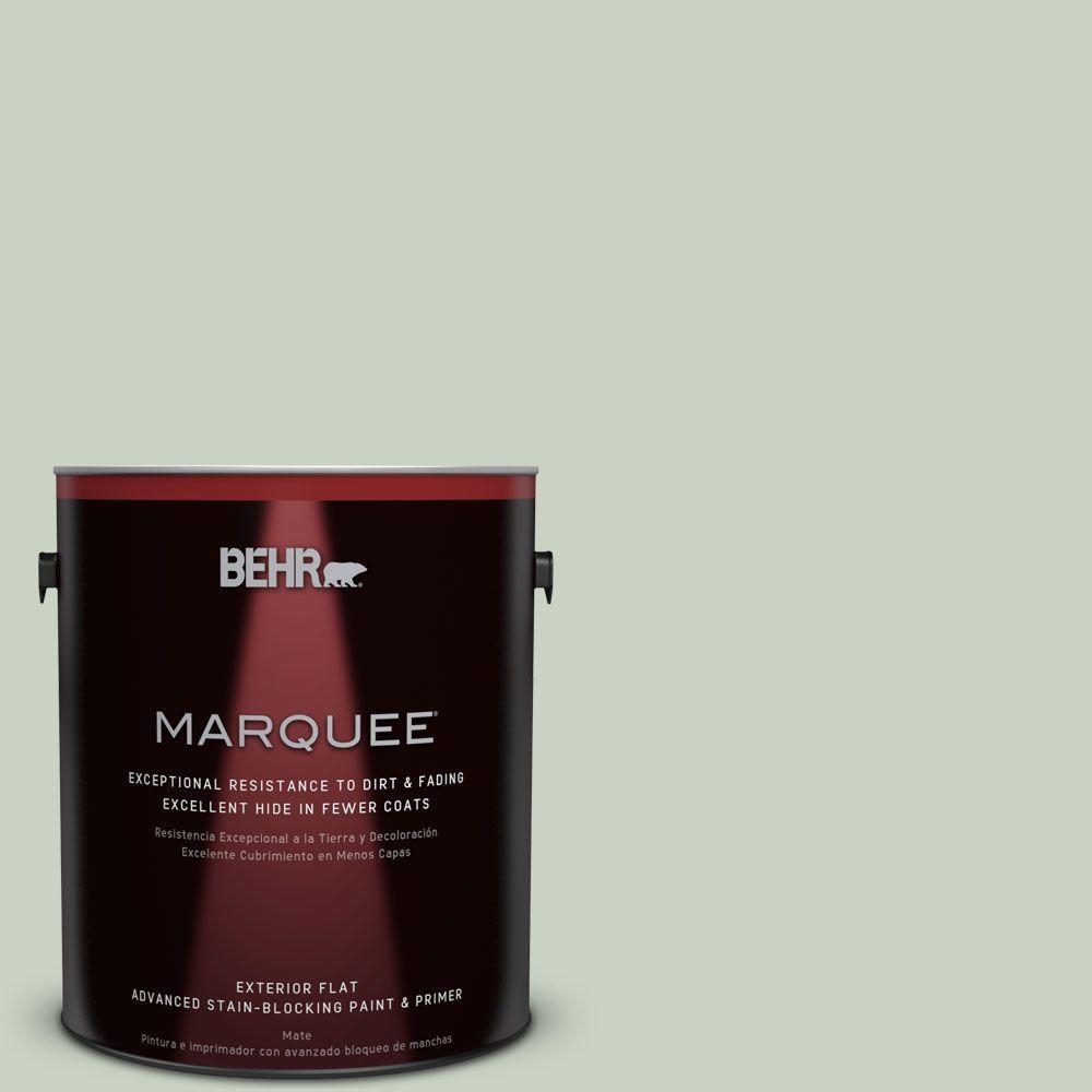 BEHR MARQUEE 1-gal. #PPU11-12 Mild Mint Flat Exterior Paint, Blues