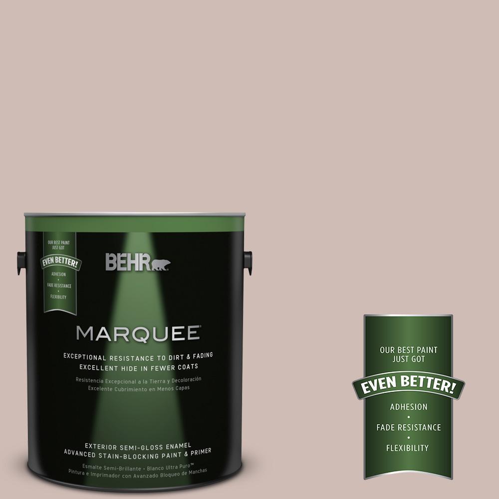 BEHR MARQUEE 1-gal. #N150-2 Smokey Pink Semi-Gloss Enamel Exterior Paint