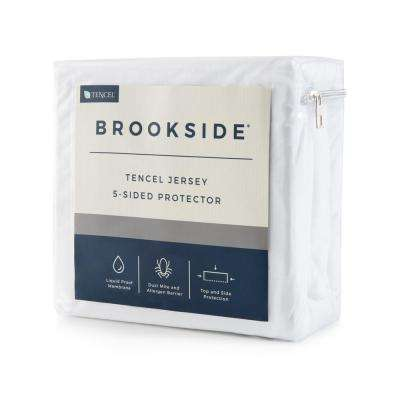 Tencel Jersey Fabric Polyester 5-Sided Twin Mattress Protector