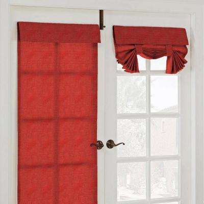 26 in. W x 68 in. L Key Largo Polyester French Door Window Panel in Chili