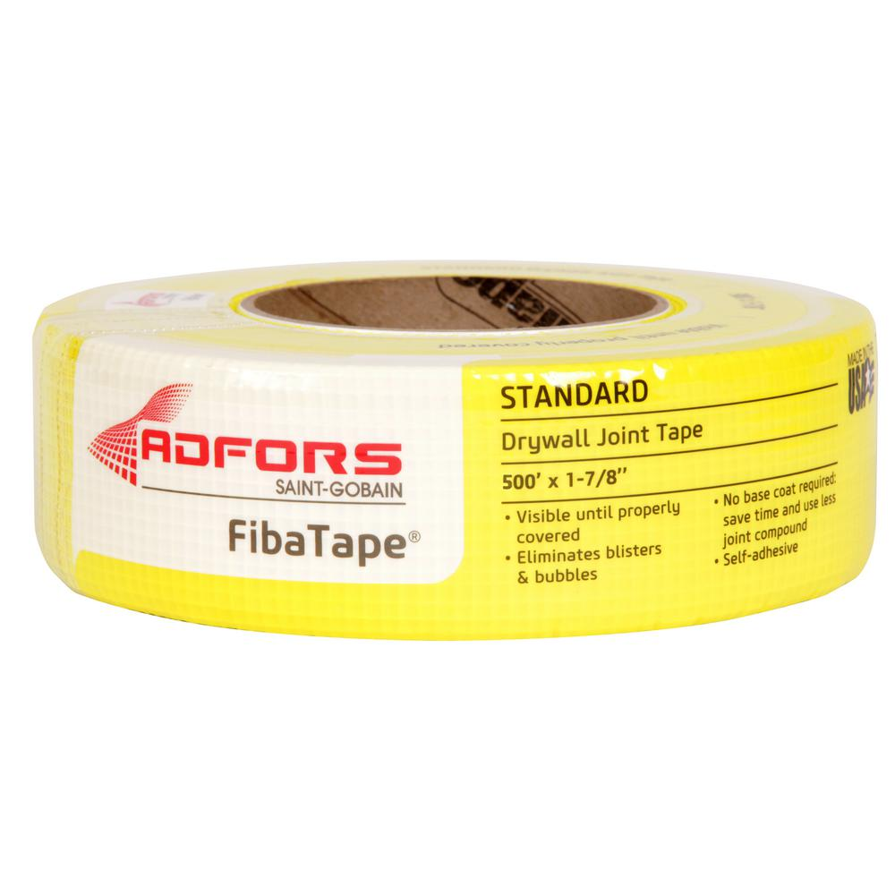 Saint-Gobain ADFORS FibaTape Standard Yellow 1-7/8 in. x 500 ft. Self-Adhesive Mesh Drywall Joint Tape