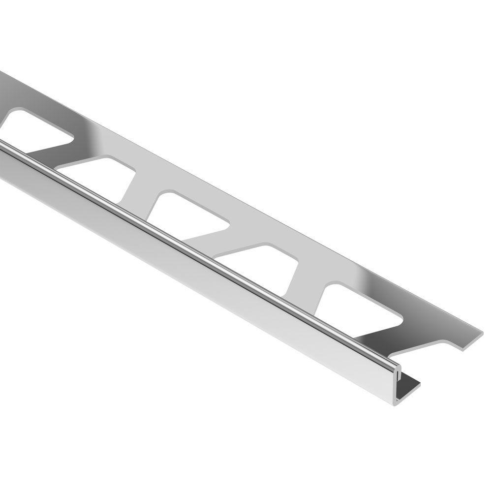 Schluter Schiene Stainless Steel 17/32 in. x 8 ft. 2-1/2 in. Metal L-Angle Tile Edging Trim
