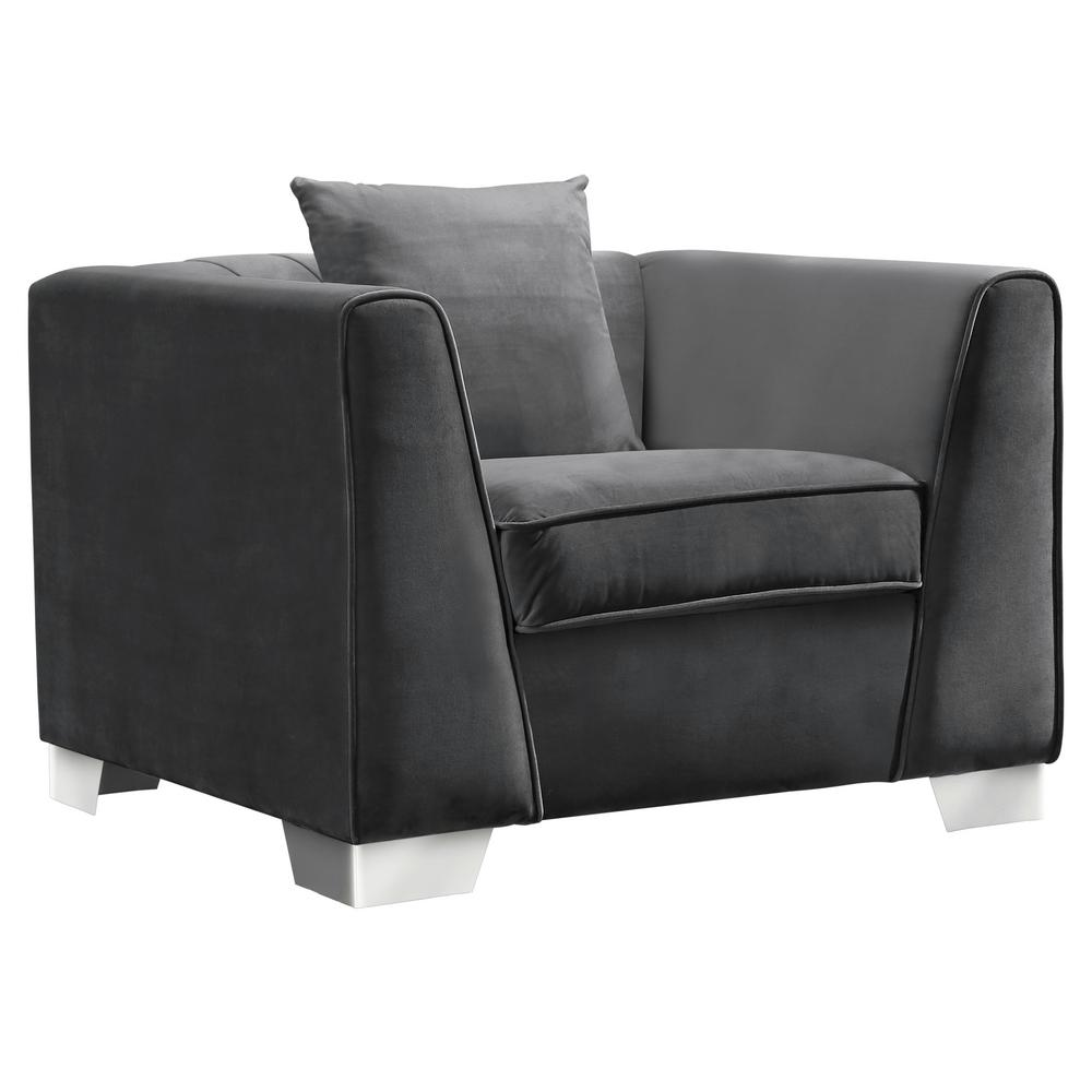 Cambridge Armen Living Cambridge Contemporary Sofa Chair in Brushed ...