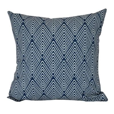 Lifeflor Navy Blue Geometric 20 in. x 20 in. Throw Pillow