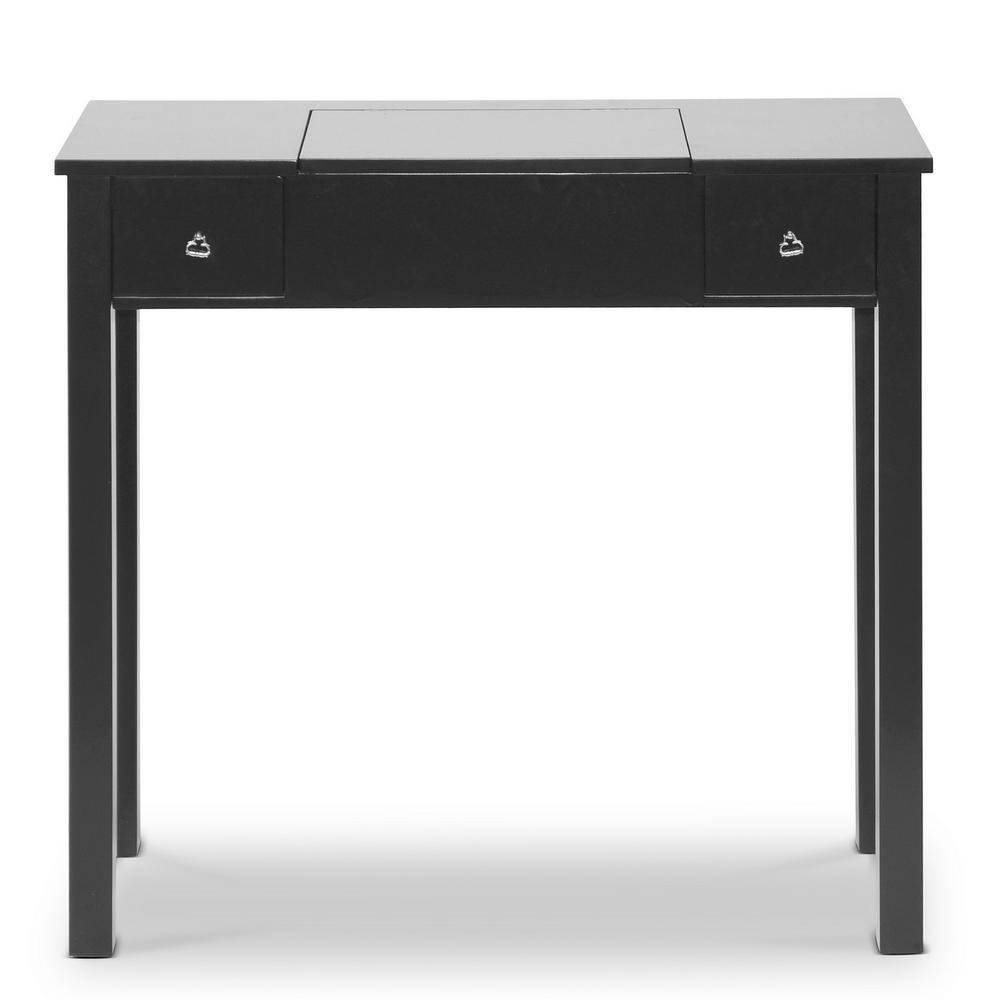 Baxton Studio Wessex Black Wood Vanity Table