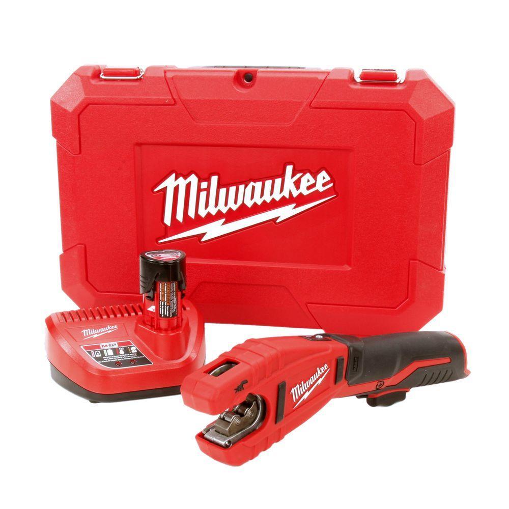 Milwaukee M12 12-Volt Lithium-Ion Cordless Copper Tubing Cutter Kit