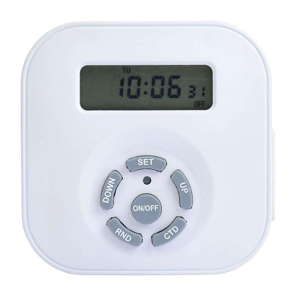 westek weekly digital round timer, single outlet, white te1604whbweekly digital round timer, single outlet, white