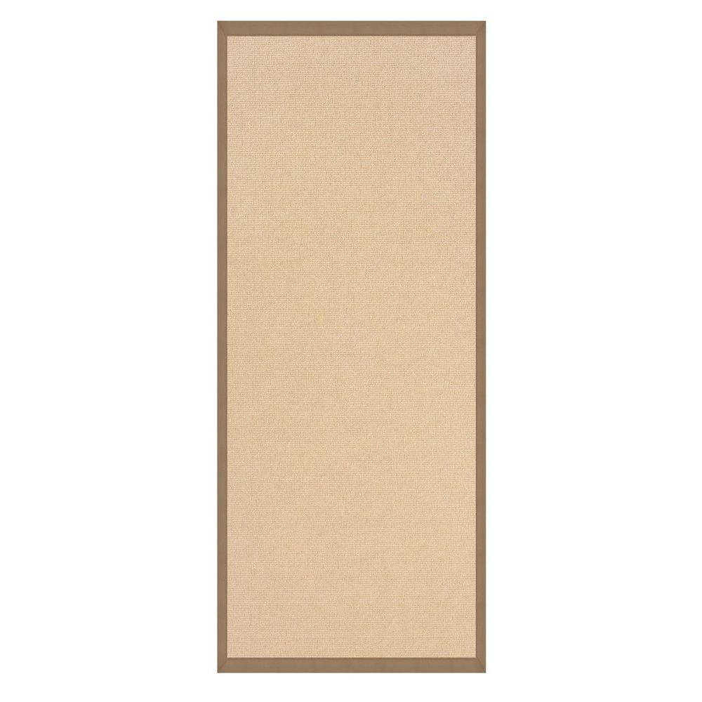 Linon Home Decor Athena Natural and Beige 2 ft. 6 in. x 12 ft. Rug Runner
