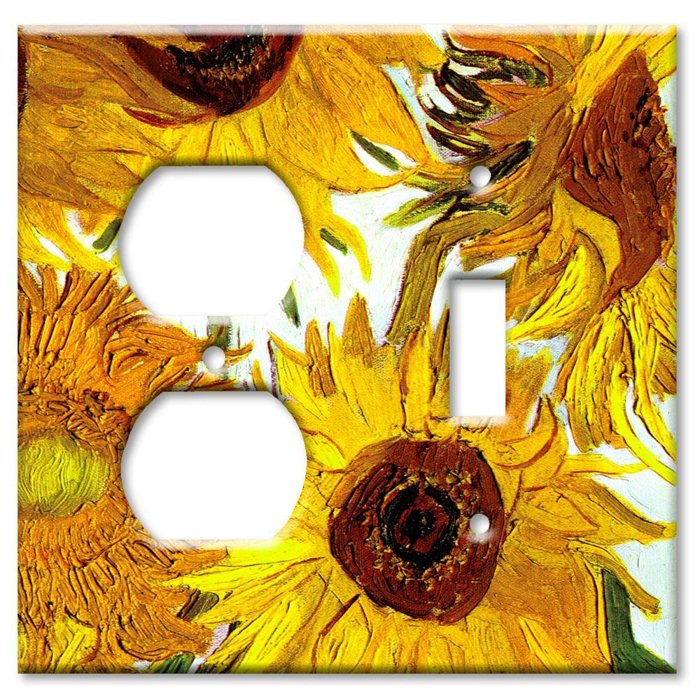 Art Plates Van Gogh Sunflowers Outlet/Switch Combo Wall Plate
