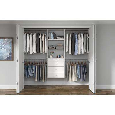 Ultimate 48 in. W - 96 in. W White Wood Closet System
