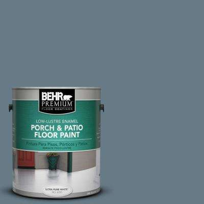 1 gal. #N490-5 Charcoal Blue Low-Lustre Porch and Patio Floor Paint