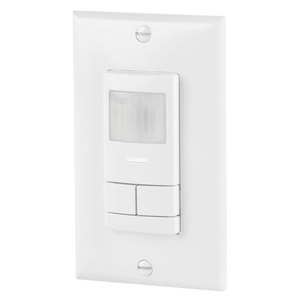 Lithonia Lighting Dual Detection Occupancy 2-Pole Wall Switch Sensor - White